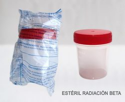 FRM100EUBEK- contenedor 100-150 Tapa Roja- Esteril Beta